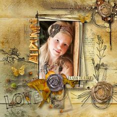 layout using  Learn To Love Embellishment Mini: Stamp by florju designs