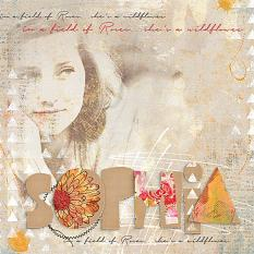Sophia digital scrapbooking layout by Brandy Murry