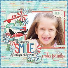 Smiles for Miles layout by CTM Julie
