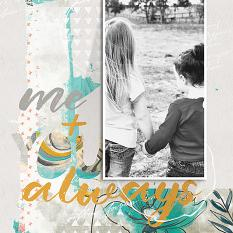 Me and You Always digital scrapbooking layout featuring My Journal Collections