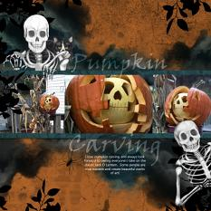 Pumpkin Carving Layout using Bone Rattling Embellishment Mini by Angela Blanchard