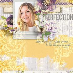 """Perfection"" #digitalscrapbooking layout idea by AFT Designs - Amanda Fraijo-Tobin using Blended Collage Paper Templates 