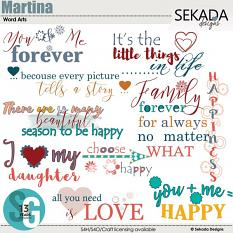 Martina Word Art
