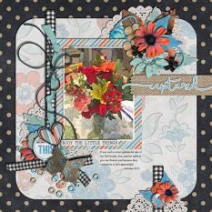 Layout by Joanna using  Project Keepsake: October - Burlap Stack