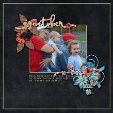 Layout by Kathryn using Project Keepsake: October - Collection Biggie