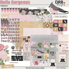 Hello Gorgeous Collection by DRB Designs | ScrapGirls.com