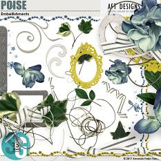 Poise Digital Scrapbooking Embellishments by AFT Designs - Amanda Fraijo-Tobin @ScrapGirls.com | #scrapgirls #aftdesigns #digitalscrapbook #scrapbook