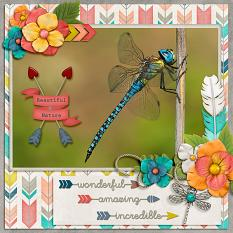 """Beautiful Nature"" layout by Laura Louie"