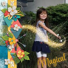 """""""Magical"""" layout by Laura Louie"""