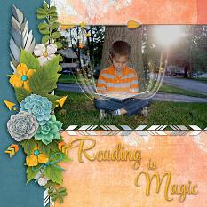 """""""Reading"""" layout by Laura Louie"""