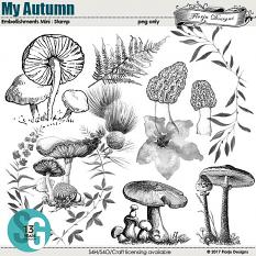 My Autumn Embellishment Mini: Stamp by florju designs