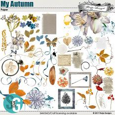 My Autumn Embellishment  by florju designs