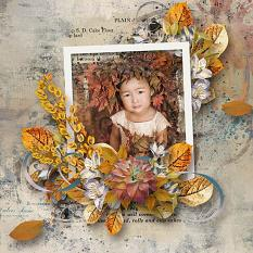 layout using My Autumn Collection by florju designs