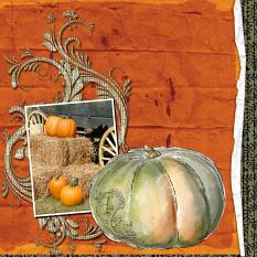LO made with Around Pumpkins Collection Super Mini by Caroline B.