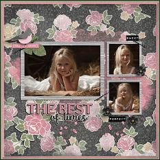"""The Best of Times"" digital scrapbook layout by Judy Webster"