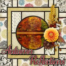 Autumn Reflections digital scrapbook layout by Laura Louie