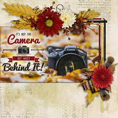 Its not the camera... digital scrapbook layout by Laura Louie