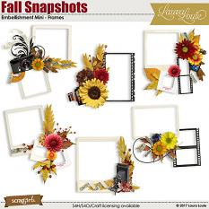 Fall Snapshots Embellishment Mini - Frames