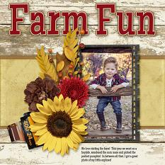 Farm Fun digital scrapbook layout by Laura Louie