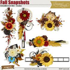 Fall Snapshots Embellishment Mini - Clusters