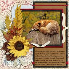 Fox digital scrapbook layout by Laura Louie