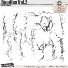 Doodles Vol2 Messy Thread by On A Whimsical Adventure