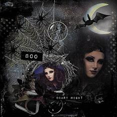 layout using Scary Night Collection Mini by florju designs