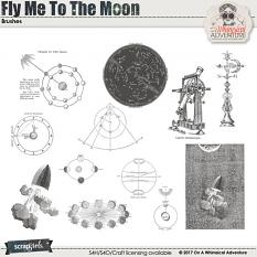 Brush Set: Fly Me To The Moon by On A Whimsical Adventure