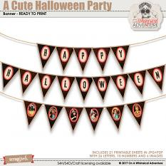 A Cute Halloween Party Banner by On A Whimsical Adventure