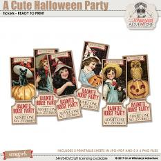 A Cute Halloween Party Tickets by On A Whimsical Adventure