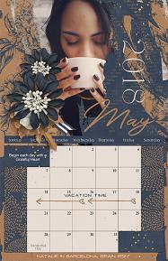 2018 Calendar Template Sample Page by Brandy Murry