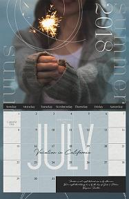 2018 Calendar Template Holiday Sample Page by Brandy Murry