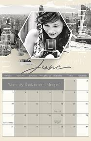 2018 Calendar Template Travel Sample Page by Brandy Murry