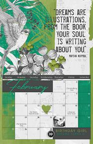 2018 Calendar Template Quote Sample Page by Brandy Murry