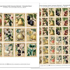 Postage Stamps Vol1 by On A Whimsical Adventure