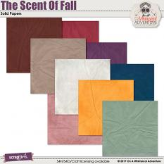 The Scent Of Fall Solid Papers by On A Whimsical Adventure