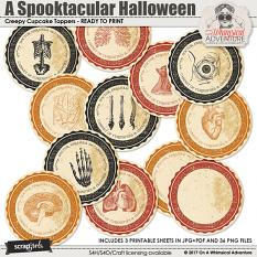 A Spooktacular Halloween Party Creepy Cupcake Toppers by On A Whimsical Adventure