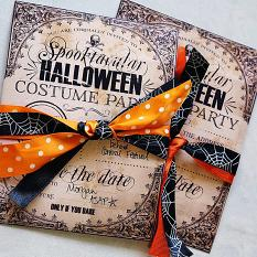 Hybrid project using A Spooktacular Halloween Party Costume Contest Invitation by On A Whimsical Adventure
