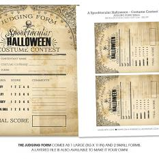 A Spooktacular Halloween Party Costume Contest Printables by On A Whimsical Adventure