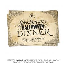 A Spooktacular Halloween Party Dinner Printables by On A Whimsical Adventure