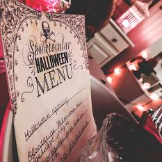 Hybrid project using A Spooktacular Halloween Party Dinner Printables by On A Whimsical Adventure