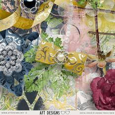 Details of some of the Opulent digital scrapbooking items by AFT Designs