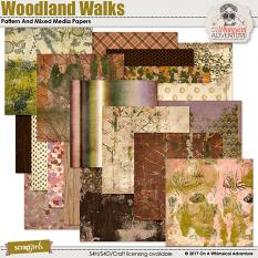 Woodland Walks Pattern And Mixed Media Papers by On A Whimsical Adventure