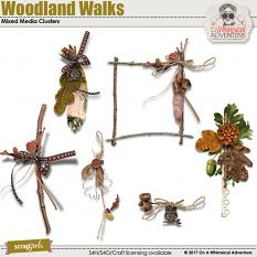Woodland Walks Mixed Media Clusters by On A Whimsical Adventure