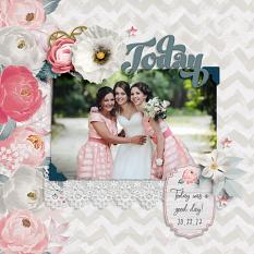"""Today"" digital scrapbook layout by Darryl Beers"