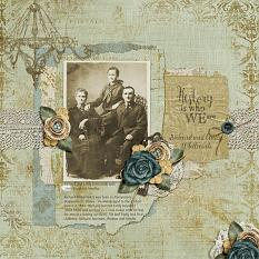 Digital Scrapbooking using featuring ScrapSimple Simply Vintage Collection