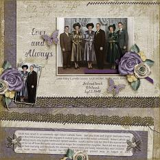 Digital Scrapbooking layout featuring ScrapSimple Simply Vintage Collection