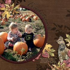 Layout by Angela Blanchard using Autumn Brambles Collection