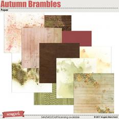 Autumn Brambles Papers by Angela Blanchard