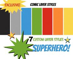 Exclusive Comic Strip Layer Styles